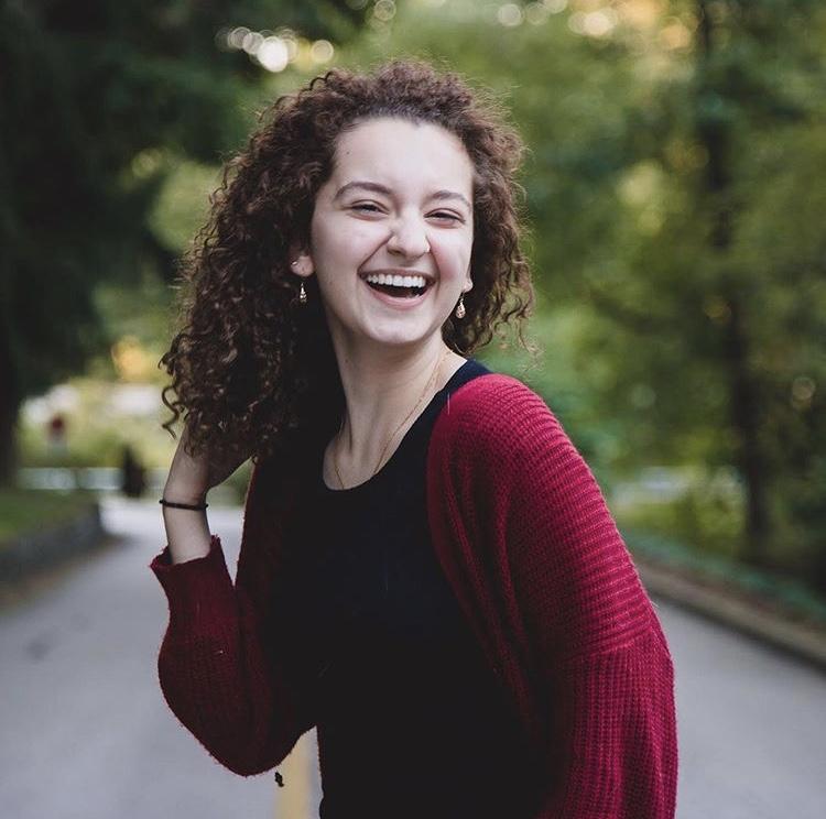 Scaccio smiles for her senior photos.