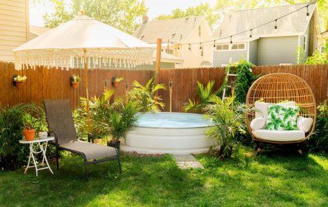 Kuhlman's stock tank pool that he made in his backyard.