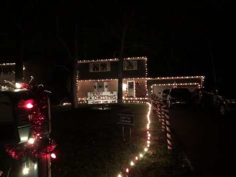 "A house on Beechwood Drive, self-title ""Candy Cane Lane"", placed in the Light Up Tallmadge contest."
